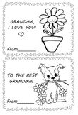 I love you grandmother coloring card (2)