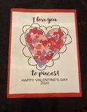 I love you to pieces Happy valentines day kids craft paren