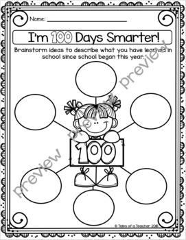 I'm 100 Days Smarter! ~ Descriptive Writing Activity (100th Day of School)