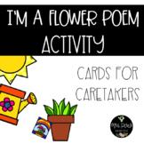 I'm A Little Flower Poem: Cards For Caretakers