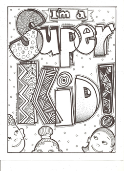 Im A Super Kid Coloring Sheet