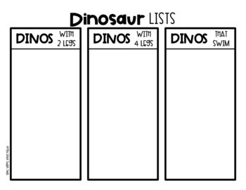 Write All About It: Dinosaur Edition
