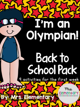 I'm An Olympian! Back to School Pack