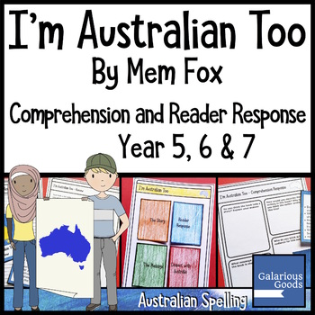 I'm Australian Too by Mem Fox - Comprehension and Reader Response