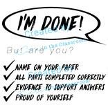 I'm Done! Checklist