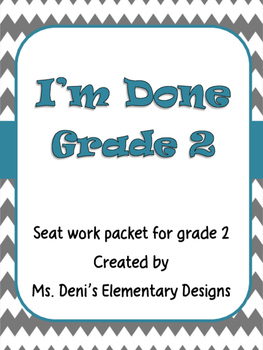 I'm Done Grade 2 Seat Work
