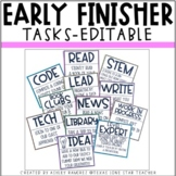 EDITABLE  Early Finisher Tasks