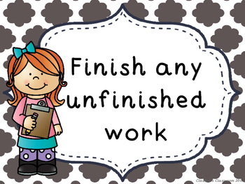 I'm Done! Now What? Anchor Chart (Grey Cloud Quatrefoil)