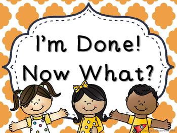 I'm Done! Now What? Anchor Chart (Orange Cloud Quatrefoil)