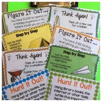 Early Finishers Activities Task Cards BUNDLE (US and NZ Spelling)