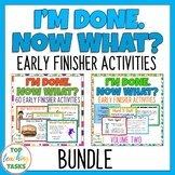 Early Finishers Activities Task Cards BUNDLE US and NZ Spelling