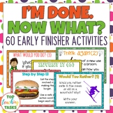Early Finishers Activities Task Cards and Fast Finisher Activities