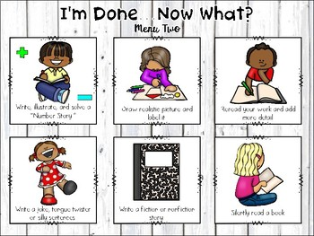 I'm Done Now What-Early Finishers