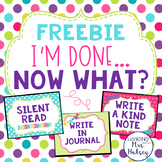 I'm Done... Now What? Mini Posters Freebie