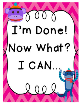 I'm Done! Now What? Sock Monkey Theme Posters