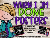 I'm Done Posters Bright Theme