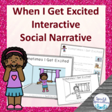 I'm Excited Social Narrative Interactive Book and Emergent