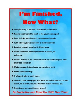 I'm Finished Now What? Poster