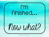 I'm Finished... Now What? (Printable)