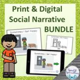 I'm Happy Interactive Social Narrative Print & BOOM Cards™ BUNDLE