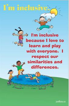 'I'm inclusive' Poster