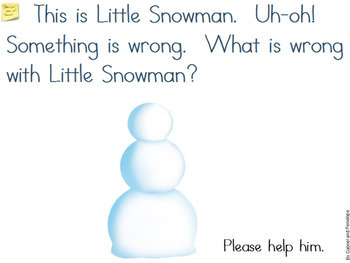 Interactive Book for Speech Therapy: I'm Little Snowman #SLPFreebieFriday