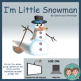 Interactive Book for Speech Therapy: I'm Little Snowman