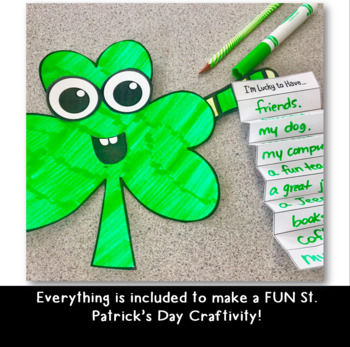 I'm Lucky St. Patrick's Day Craftivity- Grades 2-5