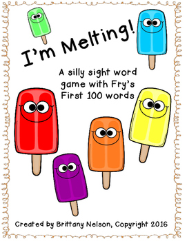I'm Melting! Print & Play Sight Word Game