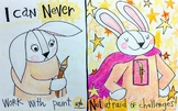 I'm NOT afraid of a Challenge! Growth Mindset Poster: Bunny