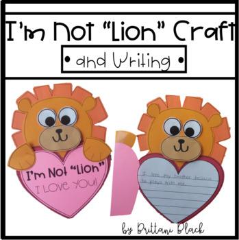 "I'm Not ""Lion"" Valentine's Day Craft"