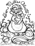 I'm Nuts About You! Autumn Fall Squirrel and Nuts Coloring Page
