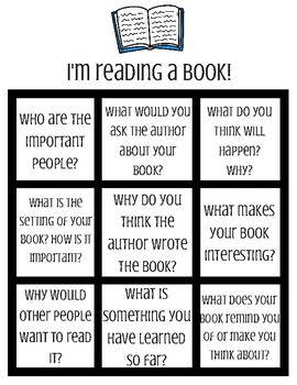 I'm Reading a Book Tic-Tac-Toe Collaborative Discussion Guide