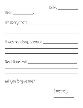 Sorry Letter Template