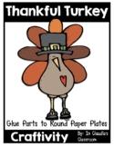 I'm Thankful For (Turkey Template) Thanksgiving Craftivity