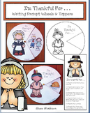 "Thanksgiving Craft: ""I'm Thankful For . . ."" Writing Prompt Wheels & Toppers"