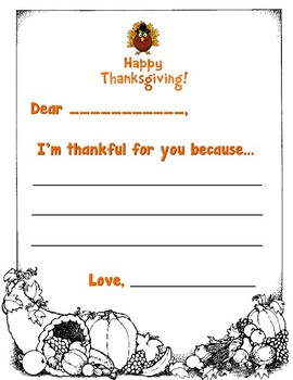 I'm Thankful For You Because...