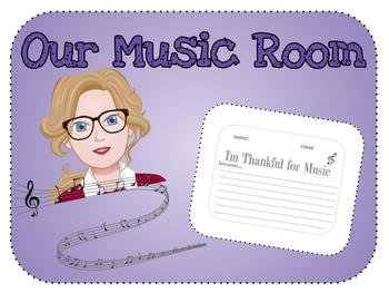 (Grades 4-8) I'm Thankful for Music Because...