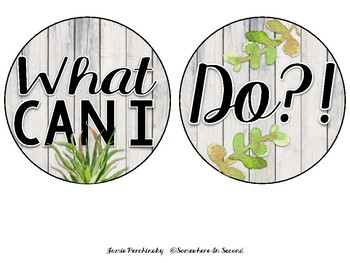 I'm Through What Can I Do? Fast Finish Sign (Succulent Themed)
