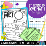 I'm Trying to Love Math Book Unit - Back to School Unit