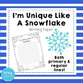 I'm Unique Like A Snowflake Writing Activity