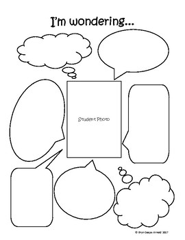 I'm Wondering Graphic Organizer for Questioning