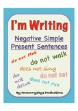 I'm Writing Simple Present Negative Sentences