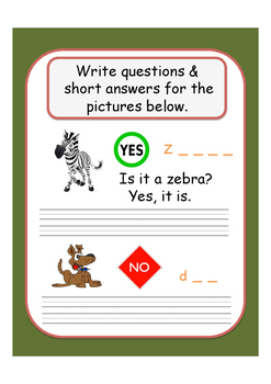 I'm Writing Verb 'to Be' Questions (Early Years/ Key Stage 1)