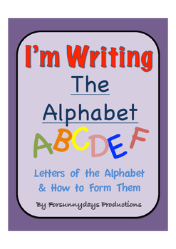 I'm Writing the Alphabet