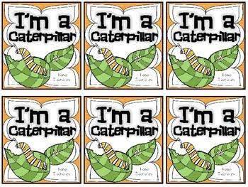 I'm a Caterpillar - Mini Book