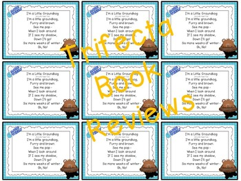 Groundhog Day Rhyme & Activities: 4K, SLP, Early Intervention