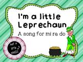 I'm a Little Leprechaun--A song for mi re do