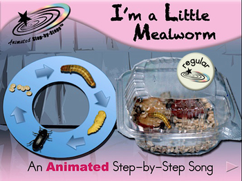 I'm a Little Mealworm - Animated Step-by-Step Song