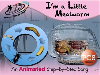 I'm a Little Mealworm - Animated Step-by-Step Song PCS
